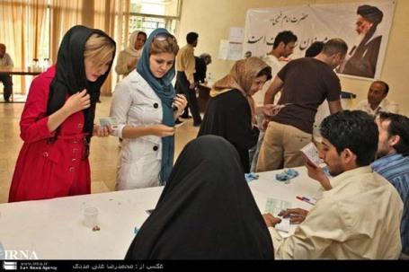 عکس رای دادن مردم در 22خرداد